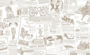 1930\'S Newsprint Wallpaper
