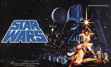 1977 Star Wars Space Background