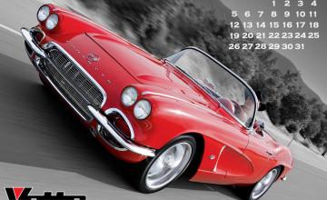 2015 Corvette Museum Wallpaper Calendar