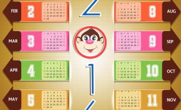 2016 Calendar Wallpaper