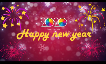 2020 New Year 1920x1080 Wallpapers