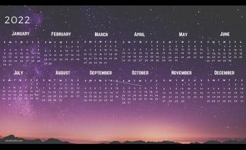 2022 Calendar Wallpapers