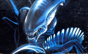 3D Alien Wallpaper