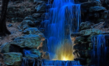 3D Animated Waterfall Wallpaper
