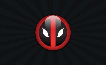 3D Deadpool Logo Wallpaper