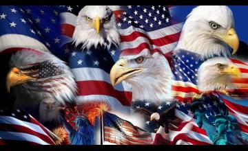 3D Desktop Patriotic Wallpaper