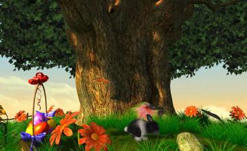 3D Easter Desktop Wallpaper