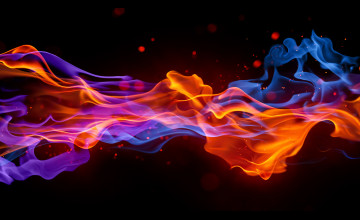 3D Flames Wallpaper
