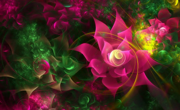 3D Flowers Wallpaper Photo