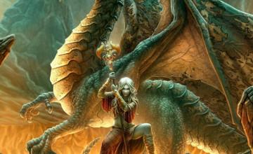 3D Moving Dragon Wallpaper