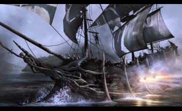 3D Pirate Ship Wallpaper