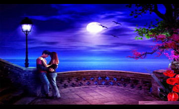 3D Romantic Wallpaper