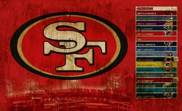 49ERS Schedule Wallpaper