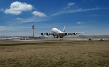 A380 Take Off Wallpaper
