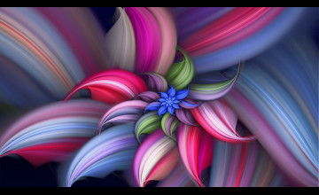 Abstract Flower Wallpaper