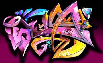 Abstract Graffiti Wallpaper