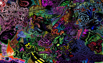 Abstract Psychedelic Wallpaper