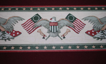 American Eagle Wallpaper Border