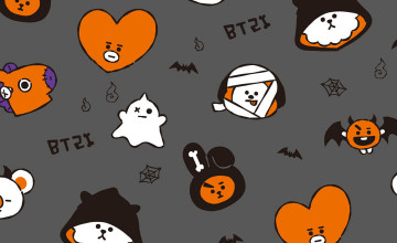 Android BT21 Halloween Wallpapers