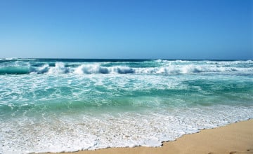 Animated Beach Waves Wallpaper