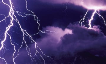 Animated Lightning Storm Wallpaper