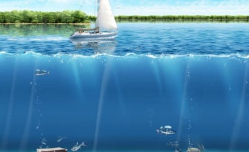 Animated Ocean Desktop Wallpaper
