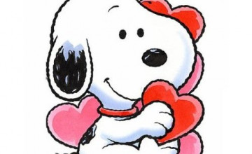 Animated Snoopy Valentine Wallpaper