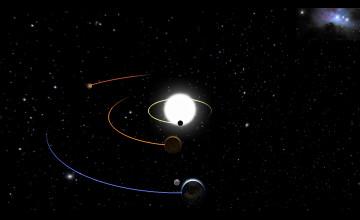 Animated Solar System Wallpaper