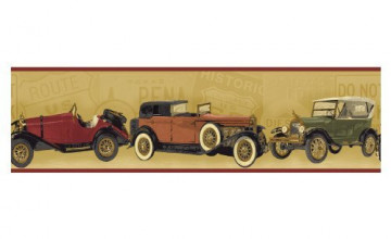 Antique Car Wallpaper Border