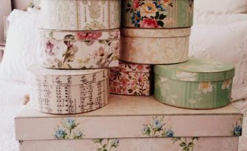 Antique Wallpaper Boxes