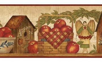 Apple Wallpaper Border for Kitchen