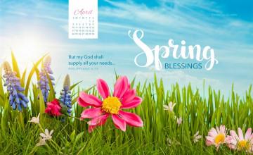 April 2016 Desktop Wallpaper Calendar
