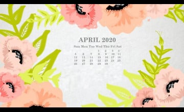 April 2020 Calendar Wallpapers