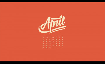 April Calendar Wallpaper