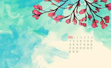 April Computer Wallpaper