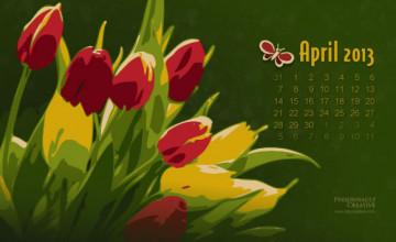 April Screensavers and Wallpaper