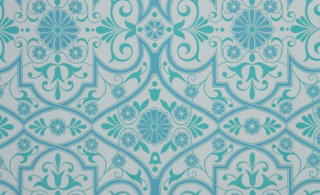 Aqua Blue Geometric Wallpaper