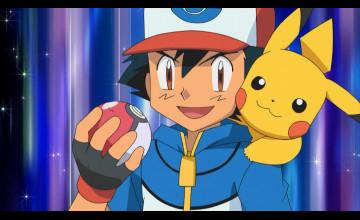 Ash and Pikachu Wallpaper