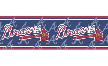 Atlanta Braves Wallpaper Border