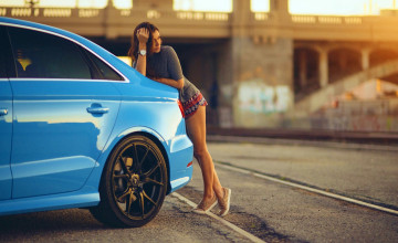 Audi Girl Wallpaper