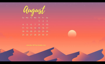 August 2019 Calendar Wallpapers