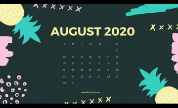 August 2020 Calendar Wallpapers