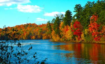 Autumn in Wisconsin Wallpaper