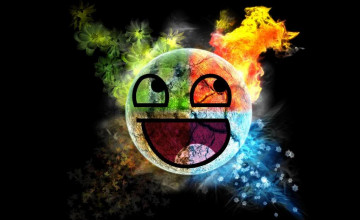 Awesome Smiley Face Wallpaper