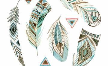 Aztec Feather Wallpaper