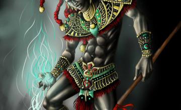 Aztec Warrior Wallpaper