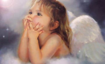 Baby Angel Free Wallpaper