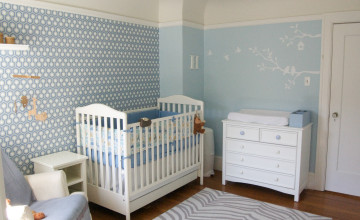 Baby Boy Nursery Wallpaper