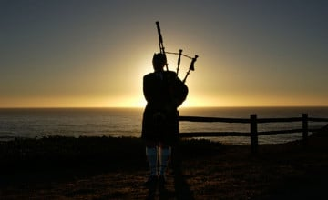 Bagpiper Wallpaper