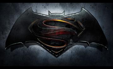 Batman Superman Logo Wallpaper